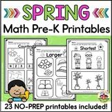 Spring Math Printables for Preschool