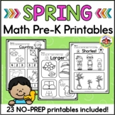 Spring Math Worksheets for Preschool