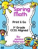 Spring Math Print & Go {1st Grade CCSS Aligned}