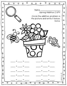 Spring Math Print and Go Unit