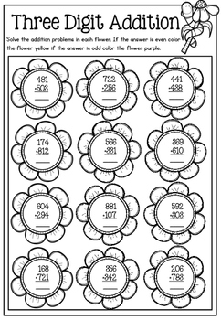 Spring Math Printable No Prep Packet