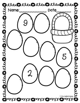 Spring Math Printables- Counting, NO PREP