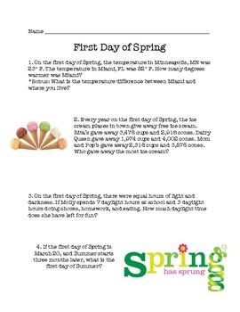 Spring Math Problem Solving