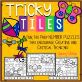 Spring Math Problem Solving Activities - Tricky Tiles