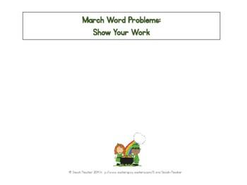 Spring (Mar.-May) Word Problems for 1st Grade Bundled (TASK CARDS)