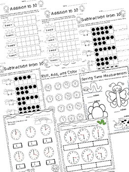 Spring Math Review - Kindergarten Common Core