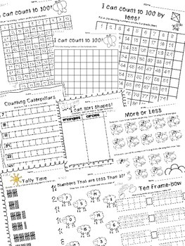 Spring Math Review - Kindergarten Common Core