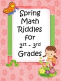 Spring Math Riddles for 1st-3rd (Addition)