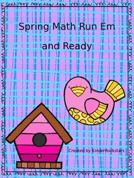 Spring Math Printables Run Em and Ready