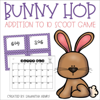 Spring Math Scoot - Bunny Hop
