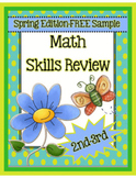 Spring Math Skills Review for 2nd-3rd Grades (FREEBIE)