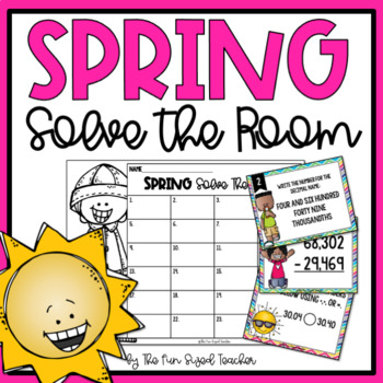 Spring Math Solve The Room (or Scoot!)