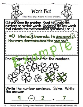 Spring Bundle!  March, April, and May Math: Solving Story Problems Grades 1-2