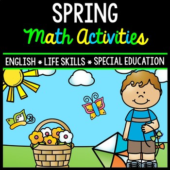 Spring Math - Special Education - Life Skills - Print and Go Worksheets