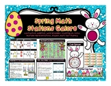 Math Stations for Spring Galore- Coins, Shapes, Addition, Subtraction and MORE