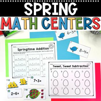 Spring Math Stations-Math Spring Math Centers for Kindergarten
