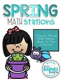 Spring Math Stations