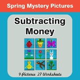 Spring Math: Subtracting Money - Color-By-Number Math Mystery Pictures