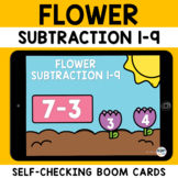 Spring Math Subtraction Boom Cards