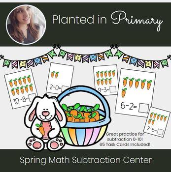 Spring Math Subtraction Center