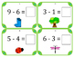 Spring Math Subtraction Task Cards (Set of 28) Grades K-2