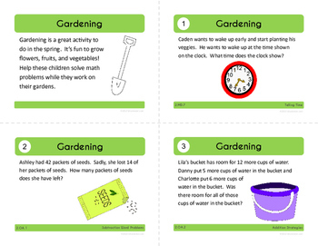 Spring Math Task Cards (2nd Grade Common Core)