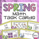 Spring Math Task Cards (Place Value, Double Digit Addition