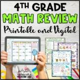 4th Grade Math Review Test Prep