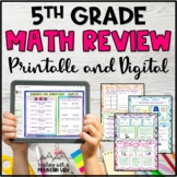 5th Grade Math Review Test Prep