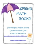 Spring Math Word Problem mini-books