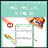 Spring Math Word Problems Addition and Subtraction to 20 Worksheets