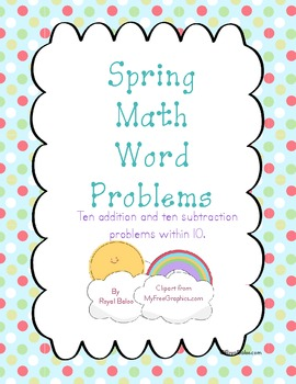 Spring Math Word Problems Within 10