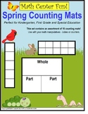 Spring Math Work Mats for Kindergarten & First Grade