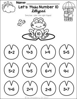 Kindergarten Math Worksheets - Spring