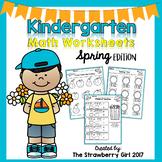 Kindergarten Math Worksheets - Spring