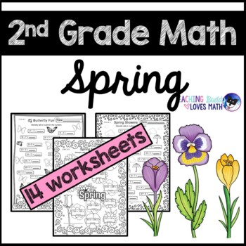 spring math worksheets 2nd grade common core by teaching buddy loves math. Black Bedroom Furniture Sets. Home Design Ideas
