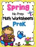 Spring Math Worksheets (Prekindergarten)