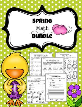 Spring Math Printables (1st grade)