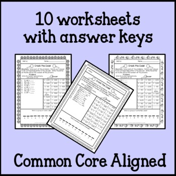 Spring Math Worksheets Secret Codes 5th Grade By Teaching Buddy