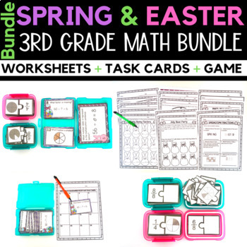 Spring Math Worksheets and Centers Bundle