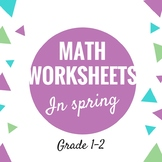 Spring Math Worksheets for 1st And 2nd Grade