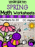 Spring Math Worksheets for Kindergarten - Numbers to 20
