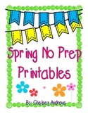 Spring Math and ELA No Prep Printables