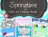 Spring Math and Language Bundle for Preschool