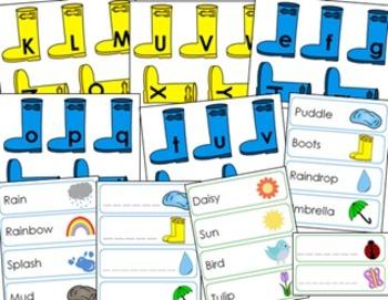 Spring Math and Language Bundle for Preschool
