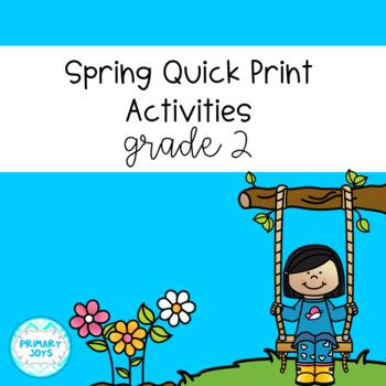 Spring Math and Language Worksheets - Grade 2