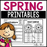 Spring Math and Literacy Activity Pack [First Grade]