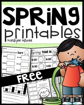 Spring Math and Literacy Activity Pack [First Grade] FREEBIE!