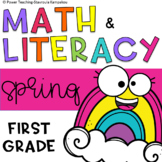 Spring Math and Literacy Centers for 1st Grade