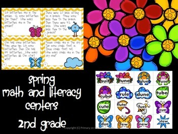 Spring Math and Literacy Bundle for 2nd Grade